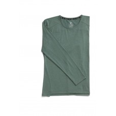 ON Bluza alergare barbati Comfort Long-T Olive