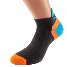 1000 Mile Ultimate Trainer Liner Sock Barbati - Charqual/Turqoise/Orange