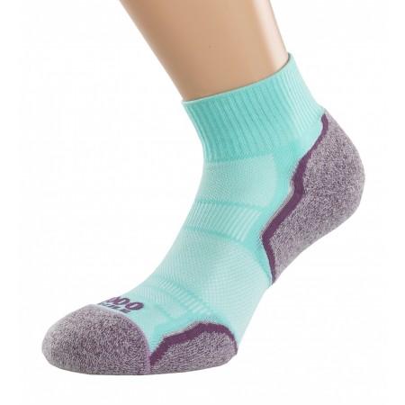 1000 Mile Breeze Running Sock Dama - MINT/PURPLE