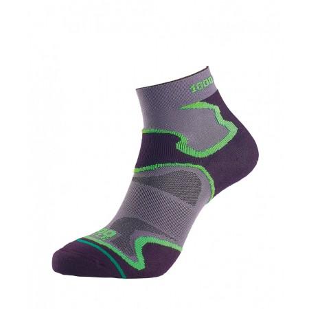 1000 Mile Fusion Anklet Sock Dama - Black/Green
