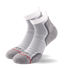 1000 Mile Run Anklet Socks Dama – Twin Pack - White/Grey