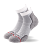 1000 Mile Run Anklet Socks Barbati – Twin Pack - White/Grey