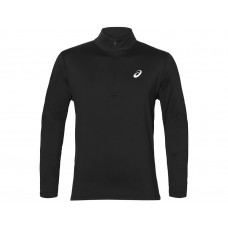 ASICS SILVER LS 1/2 ZIP WINTER TOP  BLACK