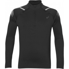 ASICS ICON WINTER LS 1/2 ZIP TOP  BLACK