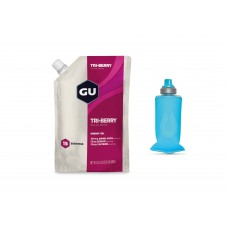 GU Gel, Tri-Berry - 15 portii + Gel Flask 150 ml Pack