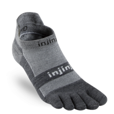 Injinji Run LW No-show, Nu-wool, Charcoal