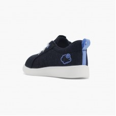 LeMouton Kids Lace-up Wool shoes Black