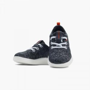 LeMouton Kids Lace-up Wool shoes Dark Gray