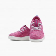 LeMouton Kids Lace-up Wool shoes Pink