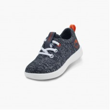 LeMouton Kids Lace-up Wool shoes Dark Gray