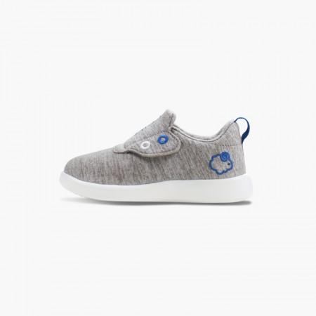 LeMouton Kids Slip-on Velcro Wool shoes Beige