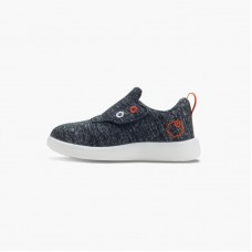 LeMouton Kids Slip-on Velcro Wool shoes Dark Gray