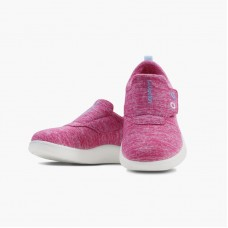 LeMouton Kids Slip-on Velcro Wool shoes Pink