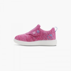 LeMouton Kids Slip-on Velcro Wool shoes Pink