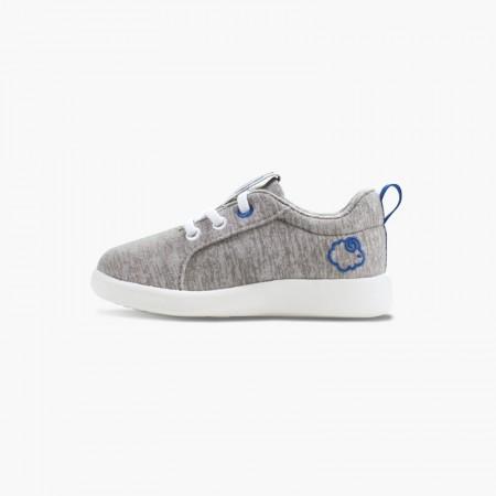 LeMouton Kids Lace-up Wool shoes Beige