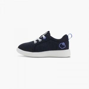 LeMouton Kids Lace-up Wool shoes Black