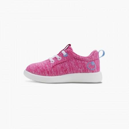 LeMouton Kids Lace-up Wool shoes Pink