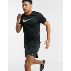 Nike Tricou Alergare Barbati BREATHE RUN TOP SS WR GX Black SS'21
