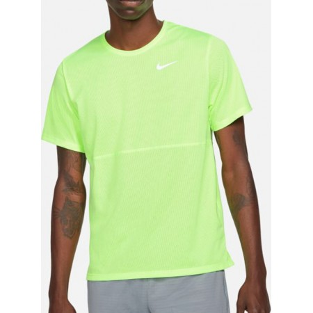 Nike Tricou Alergare Barbati BREATHE RUN TOP Lime SS'21