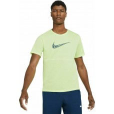Nike Tricou Alergare Barbati BREATHE RUN TOP SS WR GX Yellow SS'21