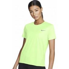 Nike Tricou Alergare Dama MILER TOP SS Lime SS'21