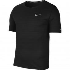 Nike Tricou Alergare Barbati MILER TOP SS Black SS'21