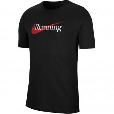 Nike Tricou Alergare Barbati DRY TEE HBR Black SS'21