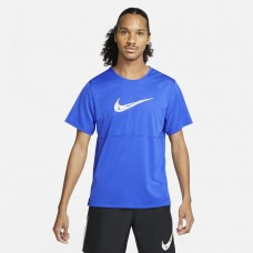 Nike Tricou Alergare Barbati BREATHE RUN TOP SS WR GX Blue SS'21