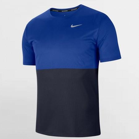 Nike Tricou Alergare Barbati BREATHE RUN TOP Blue SS'21