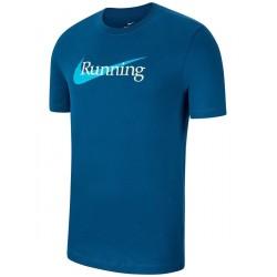Nike Tricou Alergare Barbati DRY TEE HBR Blue SS'21