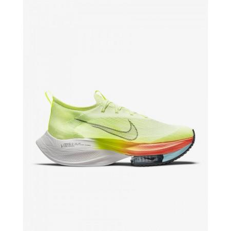 Nike Pantofi Alergare Barbati AIR ZOOM ALPHAFLY NEXT% FK Barely Volt/Hyper Orange FW'21