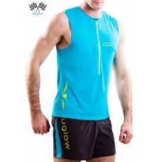 UGLOW-RACE | TOP TANK ZIP | TZIP1-SKYBLUE