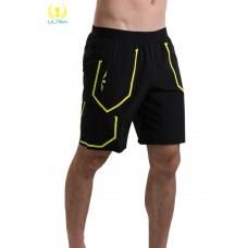 UGLOW-ULTRA | RUNNING SHORT RS2 MAN | BLACK YELLOW