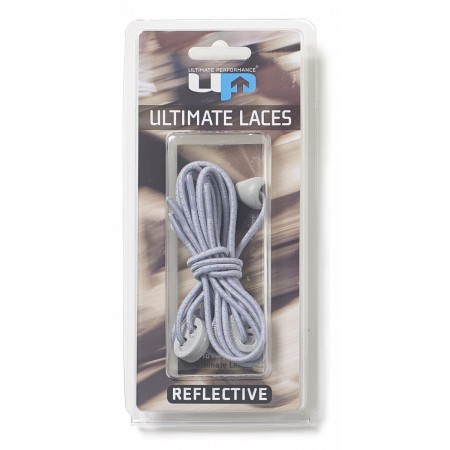 ULTIMATE PERFORMANCE Elastic Laces - Silver Grey Reflective