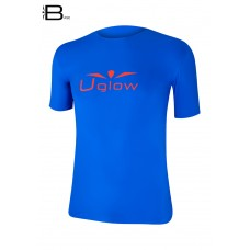 UGLOW-BASE | T-SHIRT-MAN | TS10  DEEP BLUE RED