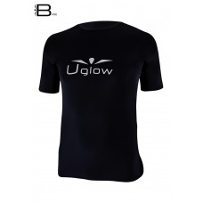UGLOW-BASE | T-SHIRT-MAN | TS12  BLACK SILVER