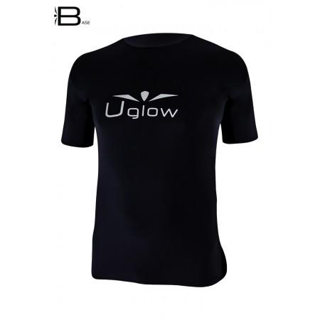 UGLOW-BASE | T-SHIRT-MAN | TS12  BLACK SILVER