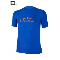 UGLOW-BASE | T-SHIRT-MAN | TS15  DEEP BLUE ORANGE