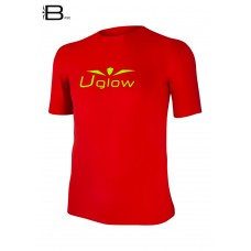 UGLOW-BASE | T-SHIRT-MAN | TS16  RED YELLOW