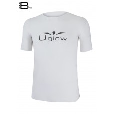 UGLOW-BASE | T-SHIRT-MAN | TS8  WHITE BLACK