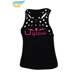 UGLOW-SL | CHEESE TOP TANK – WOMAN | BLACK PINK