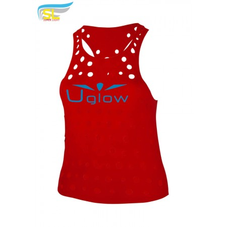UGLOW-SL | CHEESE TOP TANK – WOMAN | RED BLUE