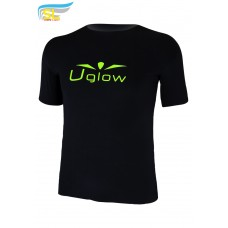 UGLOW-SL | T-SHIRT 40D | BLACK YELLOW