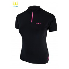 UGLOW-ULTRA | 1/2ZIP SUMMER WOMAN | 1/2ZIP2-BLACK PINK