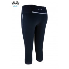 UGLOW-RACE | 3/4 TIGHT CAPRI | C3 | BLACK HI VIZ