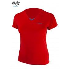 UGLOW-RACE | TSHIRT V-NECK WOMAN | VN4 RED BLUE
