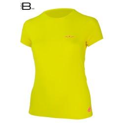 UGLOW-BASE | T-SHIRT-WOMAN | MP19 TS4 YELLOW PINK