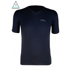 UGLOW T-SHIRT SMU VNECK4 SUPERFEEL MEN | BLACK HI VIZ