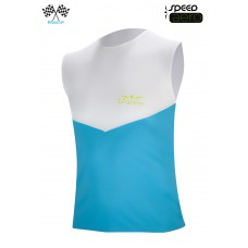 UGLOW-RACE | TOP TANK SPEED AERO | WHITE SKYBLUE  2018