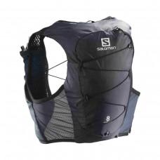 Rucsac Alergare Unisex Salomon ACTIVE SKIN 8 SET Gri cu sistem de hidratare